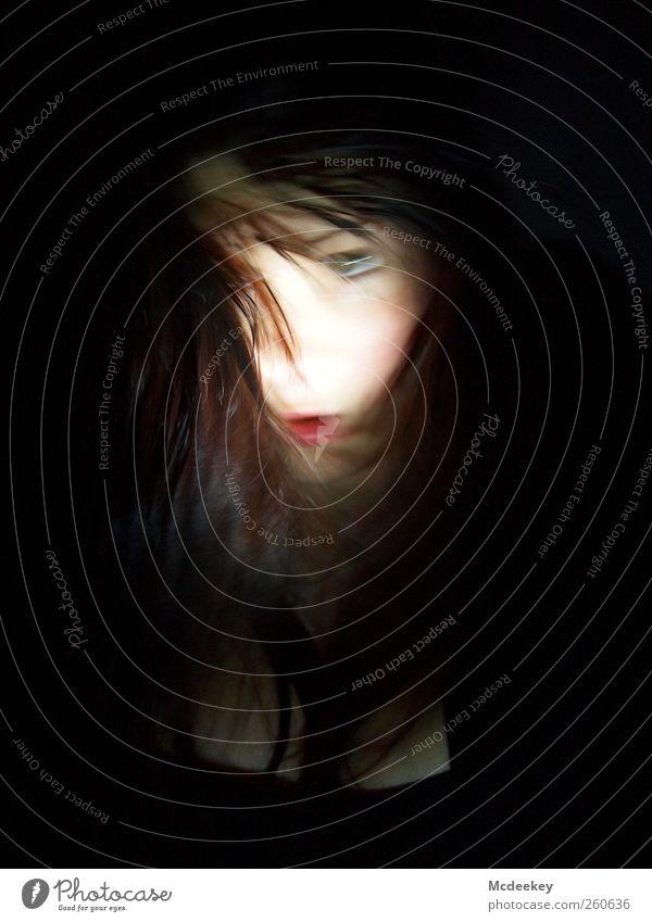 Huch? Mensch Jugendliche weiß schwarz Gesicht Erwachsene Auge feminin grau Haare & Frisuren braun rosa Mund wild außergewöhnlich 18-30 Jahre