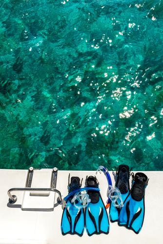 Aufgetaucht Ferien & Urlaub & Reisen Sommer blau Wasser weiß Meer Freude schwarz Sport Freizeit & Hobby leuchten glänzend Lebensfreude Schönes Wetter nass