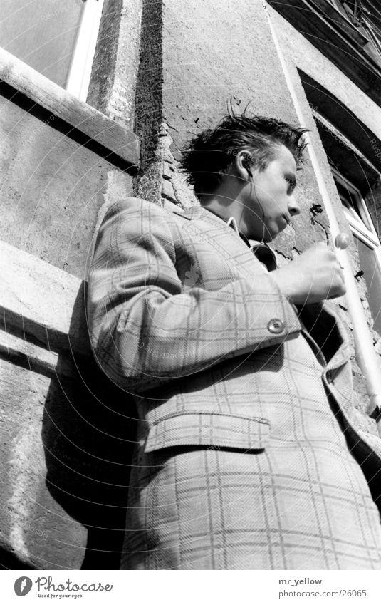 just waiting Mensch Mann Sommer Musik Haare & Frisuren Anzug Lollipop old-school Walkman Popper Popkultur
