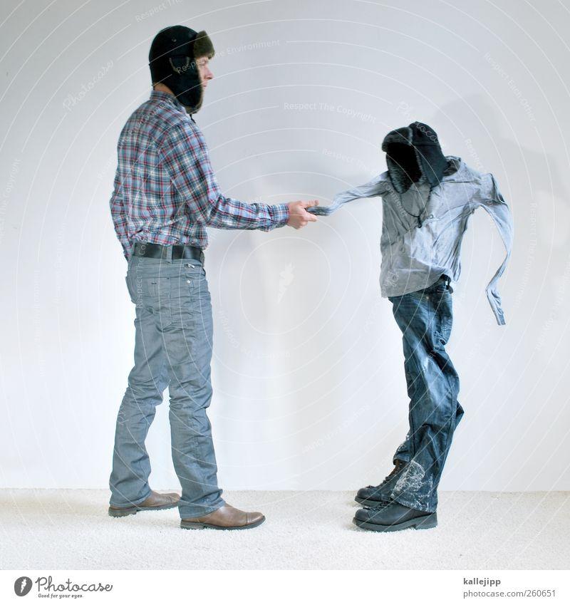 gestatten, väterchen frost! Lifestyle Mensch maskulin Mann Erwachsene Leben 2 30-45 Jahre Winter Klima Mode Bekleidung Schuhe Mütze stehen kalt Frost