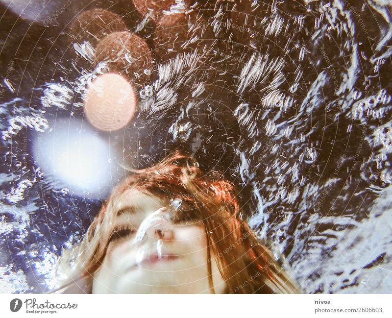 Portrait eines Jungen schön Schwimmbad Whirlpool Schwimmen & Baden Sport tauchen Kind Mensch maskulin Gesicht 1 8-13 Jahre Kindheit Luft Wasser brünett