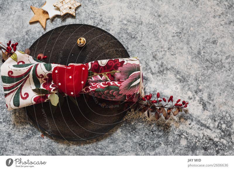 Feiertags-Tischdecke rot herzförmiger Serviettenhalter Abendessen Teller Gabel Löffel Winter Dekoration & Verzierung Restaurant Valentinstag Muttertag