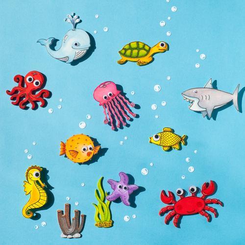 Gruppenfoto II Freizeit & Hobby Basteln Moosgummi zeichnen Ferien & Urlaub & Reisen Tourismus Abenteuer Sommer Sommerurlaub Meer Wellen Umwelt Klimawandel Algen