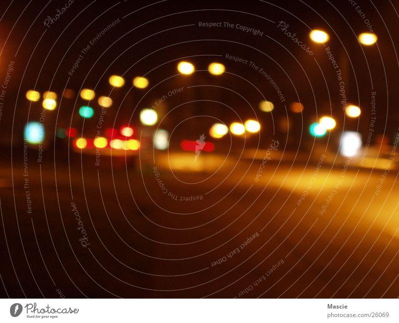 Fastlane 2 Stadt Straße dunkel Beleuchtung Verkehr Laterne Ampel
