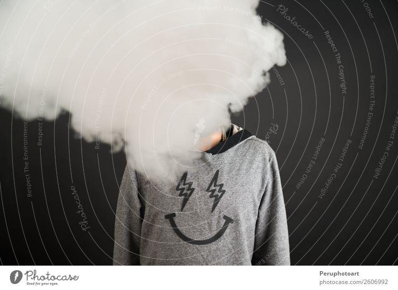 Mensch Mann alt blau Erholung schwarz Gesicht Lifestyle Erwachsene Gesundheitswesen Business Mode reif Müdigkeit Anzug Zigarette