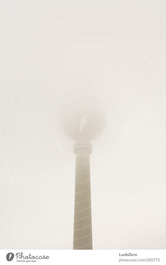 Suppenlöffel Himmel Wolken kalt Berlin Architektur grau Gebäude Luft Regen Wetter Nebel außergewöhnlich trist Turm Technik & Technologie Telekommunikation