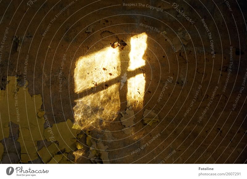 Kellerfenster Haus Fenster dunkel Architektur Wand Gebäude Mauer hell leuchten Bauwerk Verfall verfallen Putz Fensterkreuz