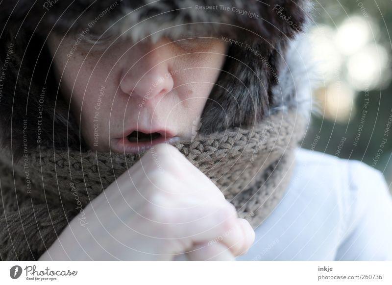 Iceage III *hust* Mensch Winter Gesicht Erwachsene Leben kalt Gefühle Wärme Stil Stimmung Eis Freizeit & Hobby Klima Ausflug Frost Erkältung