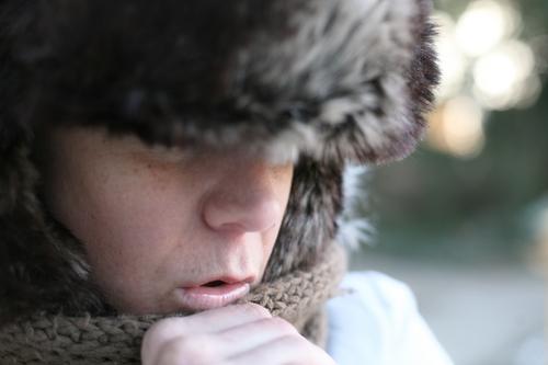 Iceage IV *hauch* Mensch Winter Gesicht Erwachsene Leben kalt Gefühle Wärme Stil Stimmung Eis Freizeit & Hobby Klima Ausflug Lifestyle Frost