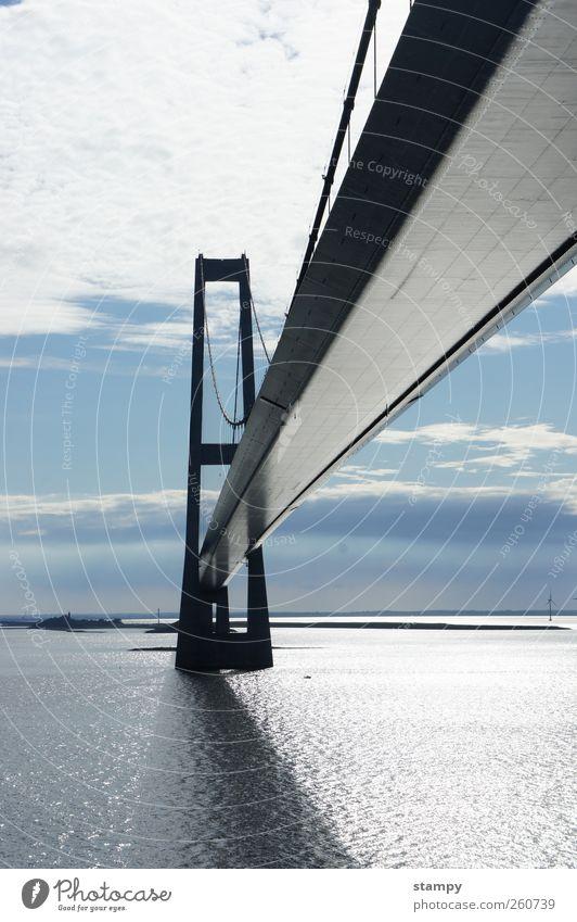 Die Brücke schön ruhig Erholung Bewegung Metall elegant Design modern Abenteuer gefährlich ästhetisch verrückt Brücke Hoffnung Coolness einzigartig