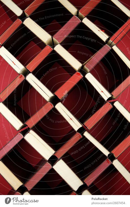 #A# Bücher-Mosaik Kunst Kunstwerk Buch Bücherregal Büchersendung Muster Literatur Literatursprache Bildung Studium lernen Schule Farbfoto mehrfarbig