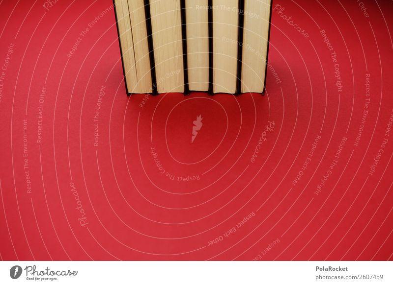 #A# Lese-Probe Kunst Kunstwerk ästhetisch Buch Bücherregal Büchersendung Bibliothek Stapel Wissen Studium Schule rot intellektuell Bildung Farbfoto mehrfarbig