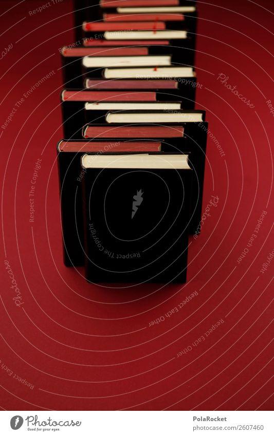#A# Bücher-Stapel rot Kunst ästhetisch lernen Buch lesen Bildung Wissen Buchseite Literatur intellektuell Bücherregal Buchmesse Literatursprache Büchersendung
