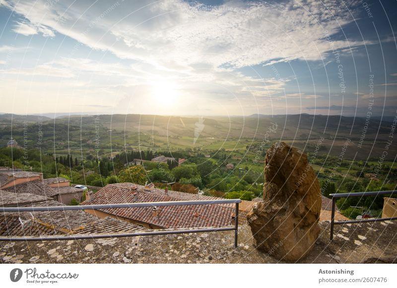 Fels in der Sonnenbrand-ung Umwelt Natur Landschaft Pflanze Himmel Wolken Horizont Sonnenfinsternis Sonnenaufgang Sonnenuntergang Sonnenlicht Sommer
