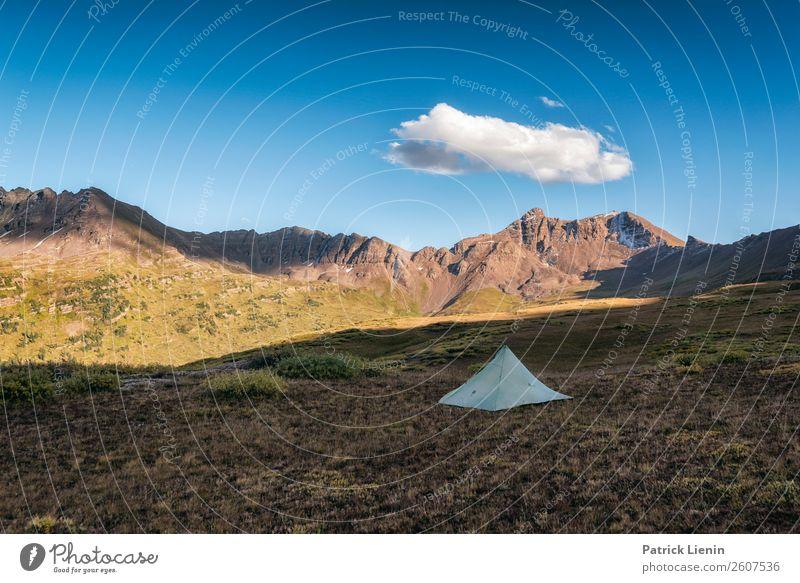 Einsamkeit in den Rocky Mountains Zufriedenheit Sinnesorgane Erholung ruhig Tourismus Ausflug Abenteuer Ferne Freiheit Berge u. Gebirge wandern Umwelt Natur