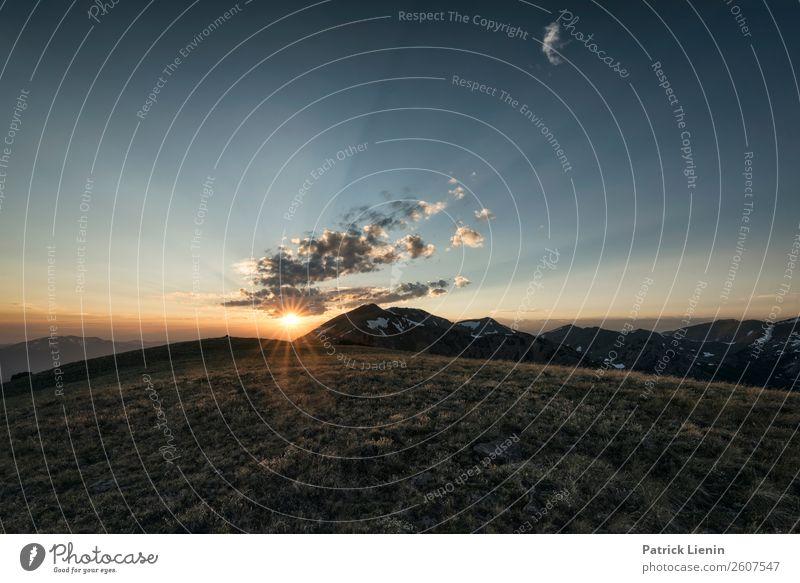 Rocky Mountains in Colorado Tourismus Ausflug Abenteuer Ferne Freiheit Camping Sommer Berge u. Gebirge wandern Umwelt Natur Landschaft Urelemente Himmel Wolken
