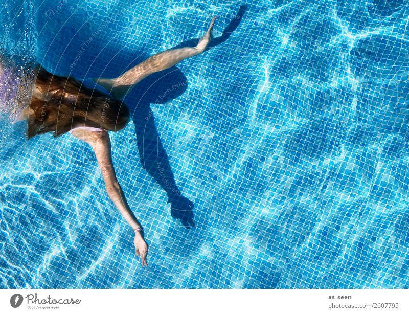 Mermaid Leben Schwimmbad Schwimmen & Baden Sport Frau Erwachsene Jugendliche Haare & Frisuren Arme 1 Mensch 18-30 Jahre Umwelt Wasser Sommer Schönes Wetter