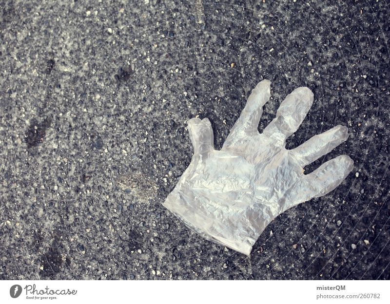 Tatort. Kunst Verkehr ästhetisch Bodenbelag Asphalt Sauberkeit Desaster Polizei Handschuhe Kriminalität Mord Körperpflegeutensilien Folie Tatort Delikt bodennah