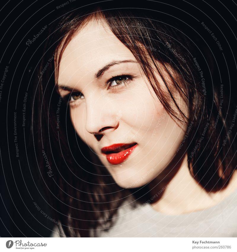 ° Frau Jugendliche schön Erwachsene Auge feminin Kopf Stil Denken elegant Mund wild Nase Coolness 18-30 Jahre bedrohlich