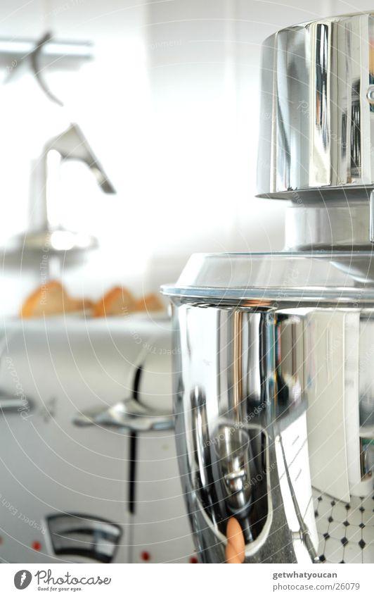 Bling bling Küche Maschine Licht Aluminium Chrom glänzend Unschärfe Mechanik Topf Behälter u. Gefäße Fliesen u. Kacheln hell Reflexion & Spiegelung