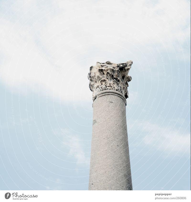 Antikes Ende Häusliches Leben Renovieren Baustelle Skulptur Architektur Altstadt Ruine Bauwerk Säule Sehenswürdigkeit Denkmal Stein Zeichen Ornament alt dünn