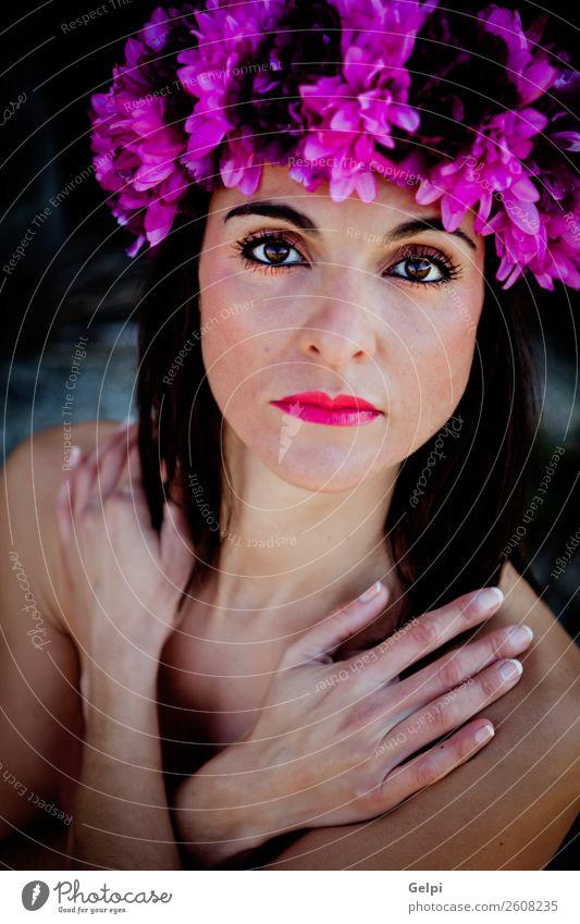Frau Mensch Natur schön weiß Blume Erotik Gesicht Erwachsene natürlich Glück Mode rosa Körper frisch Haut