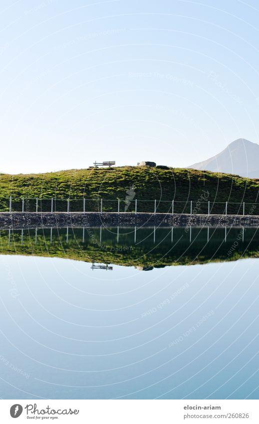 """Finde den """"Fehler"""" Himmel Natur blau grün Wasser Erholung Einsamkeit Landschaft Berge u. Gebirge Wiese Gras Glück Schwimmen & Baden See braun Zufriedenheit"""