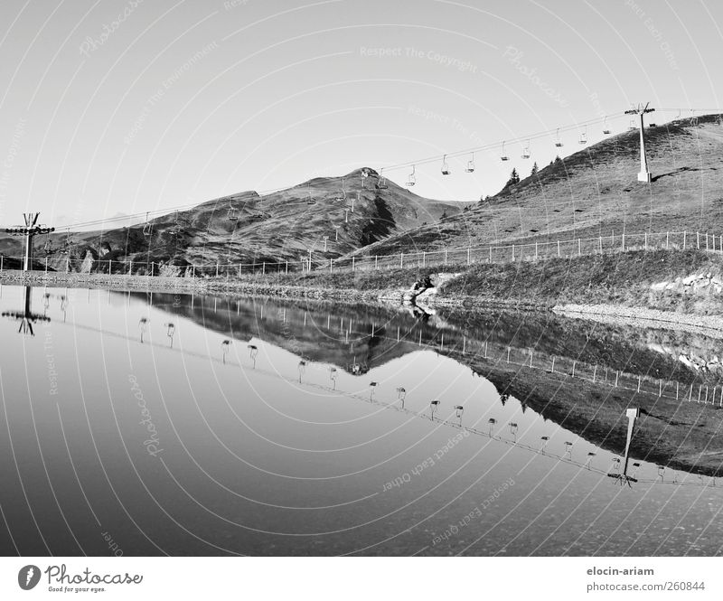 Spiegelung Natur Wasser Tier Ferne Umwelt Wiese Landschaft See Erde Tourismus Güterverkehr & Logistik Idylle entdecken Skilift