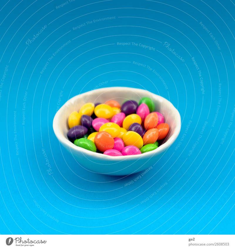 Bunte Pillen/Bonbons Lebensmittel Süßwaren Schokolade Ernährung Schalen & Schüsseln ästhetisch Fröhlichkeit einzigartig lecker rund süß mehrfarbig gefräßig