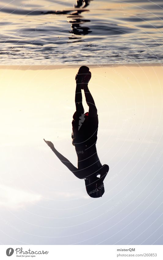 As Above, So Below. Wasser Sommer Freude Spielen Freiheit springen Kunst Horizont Freizeit & Hobby Aktion ästhetisch tauchen Sommerurlaub Surrealismus