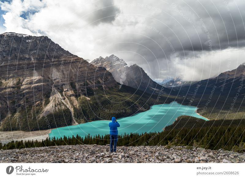 wechselhaft Ferien & Urlaub & Reisen Tourismus Ausflug Abenteuer Ferne Freiheit Expedition Berge u. Gebirge wandern Mann Erwachsene 1 Mensch Natur Landschaft