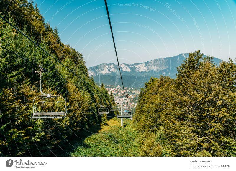 Himmel Ferien & Urlaub & Reisen Natur Sommer Pflanze blau Stadt Farbe schön grün Landschaft Baum Blatt Wald Ferne Berge u. Gebirge