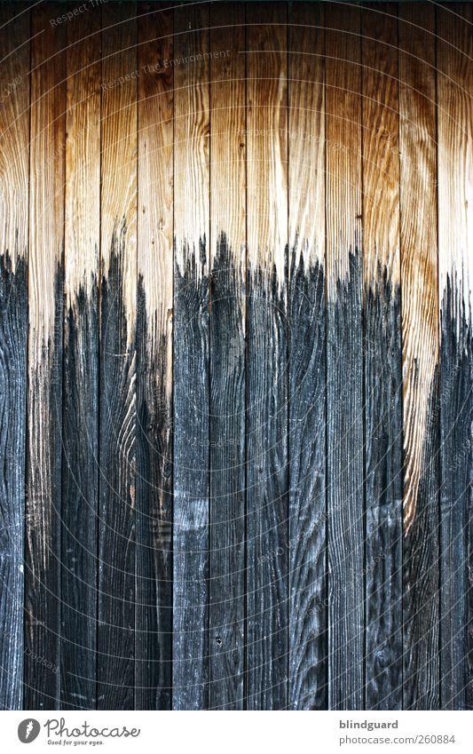 Knock On Wood Renovieren Holz alt dunkel fest braun Strukturen & Formen Hintergrundbild Maserung Anstrich Farbfoto Außenaufnahme Menschenleer Totale