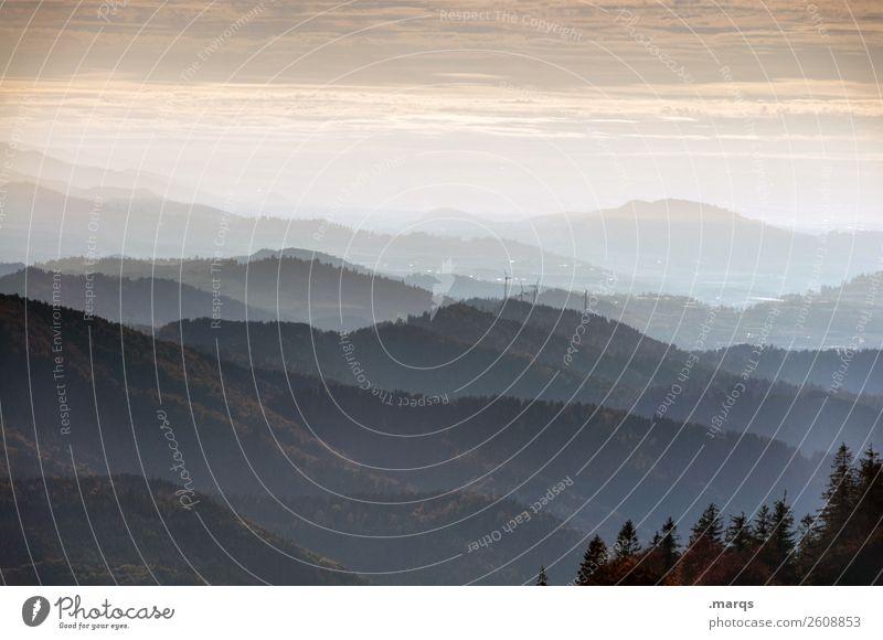 Südschwarzwald Ferien & Urlaub & Reisen Natur Landschaft Himmel Wald Hügel Berge u. Gebirge Schwarzwald Belchen wandern Stimmung Aussicht Panorama (Aussicht)
