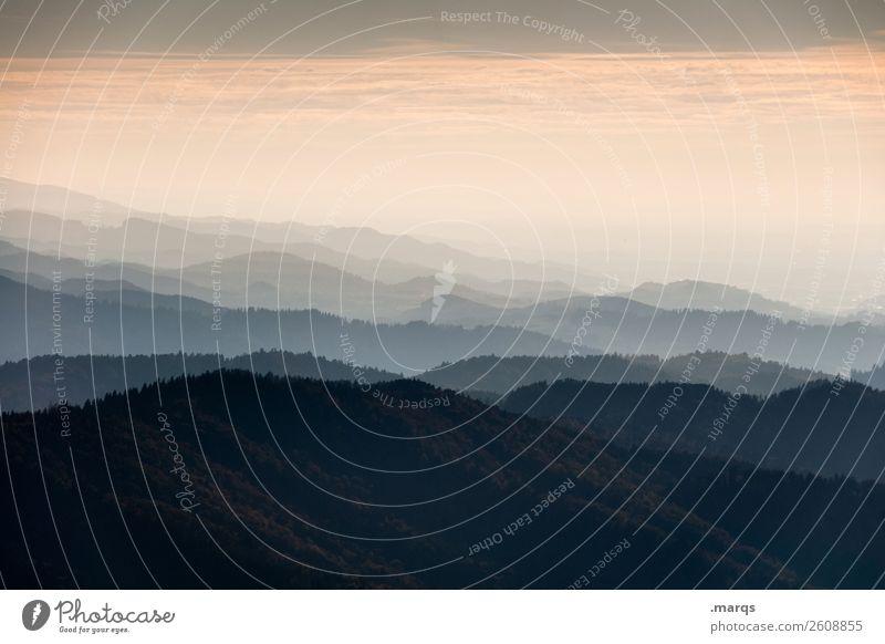 Kandel Ferien & Urlaub & Reisen Tourismus Ausflug Ferne Freiheit wandern Natur Landschaft Himmel Wetter Nebel Schlucht Wald Hügel Berge u. Gebirge Bergkette