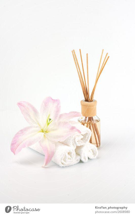Frau schön weiß Erholung Erwachsene natürlich Textfreiraum rosa Dekoration & Verzierung Körper Haut Geschenk Kerze Wellness Gelassenheit Beautyfotografie