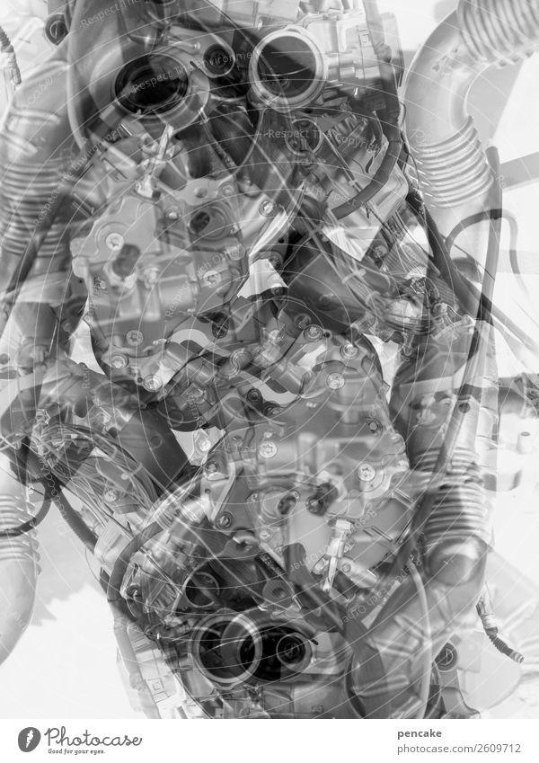 junk | und nach uns die sintflut Umwelt Tod wild Technik & Technologie Statue Müll chaotisch Doppelbelichtung Umweltverschmutzung Elektronik Schrott ersticken