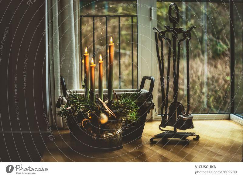 Der vierte Advent Lifestyle Stil Design Winter Häusliches Leben Wohnung Traumhaus Innenarchitektur Dekoration & Verzierung Feste & Feiern Weihnachten & Advent