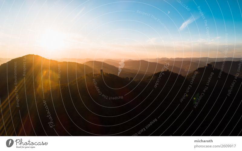 Sonnenuntergang über der Burg schön Gesundheit harmonisch Wohlgefühl Zufriedenheit Erholung Ferien & Urlaub & Reisen Tourismus Ausflug Abenteuer Ferne Freiheit
