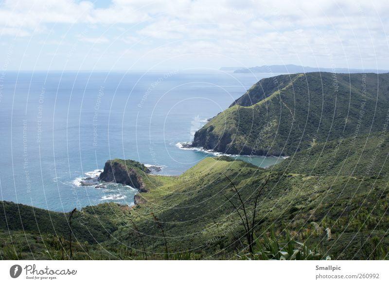 Fernweh Himmel Natur Wasser Ferien & Urlaub & Reisen Sommer Meer Wolken Ferne Umwelt Landschaft Freiheit Küste Horizont Felsen Ausflug Tourismus