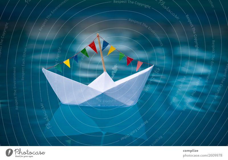 Sail away | Papierboot Partyschiff Fitness Spa Sonne Strand Meer Wellen Strandbar Feste & Feiern Geburtstag Schwimmen & Baden Segeln See Segelschiff