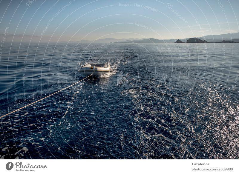 An der langen Leine Ferien & Urlaub & Reisen Natur Sommer blau Wasser Meer Erholung Freude schwarz Küste Felsen Stimmung Ausflug Horizont Wellen nass