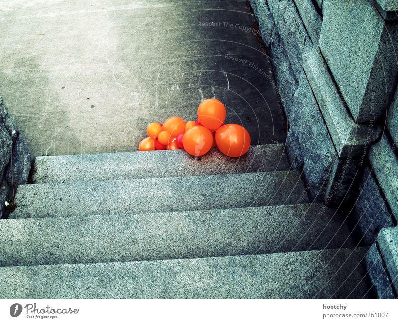 After Show Party.. grau orange liegen Treppe Dekoration & Verzierung Luftballon