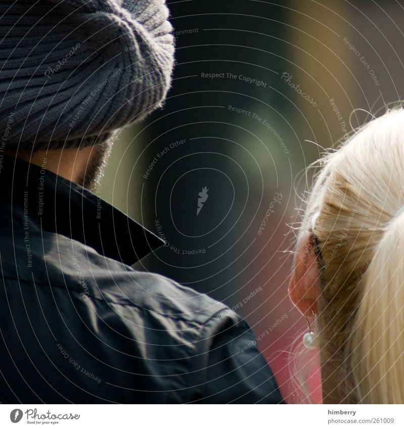 relationship Mensch Frau Mann Jugendliche Erwachsene Liebe Kopf Haare & Frisuren Glück Paar Mode Freundschaft Zusammensein Zufriedenheit blond maskulin