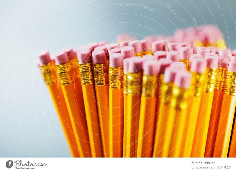 gelb rosa Bleistift Schreibwaren Objektfotografie Radiergummi