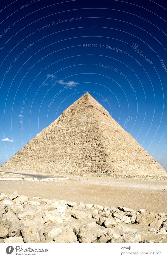 ^ Umwelt Natur Erde Sand Himmel nur Himmel Wärme Dürre Wüste außergewöhnlich historisch blau einzigartig weltwunder Gizeh Pyramide Ägypten Kultur Kulturdenkmal