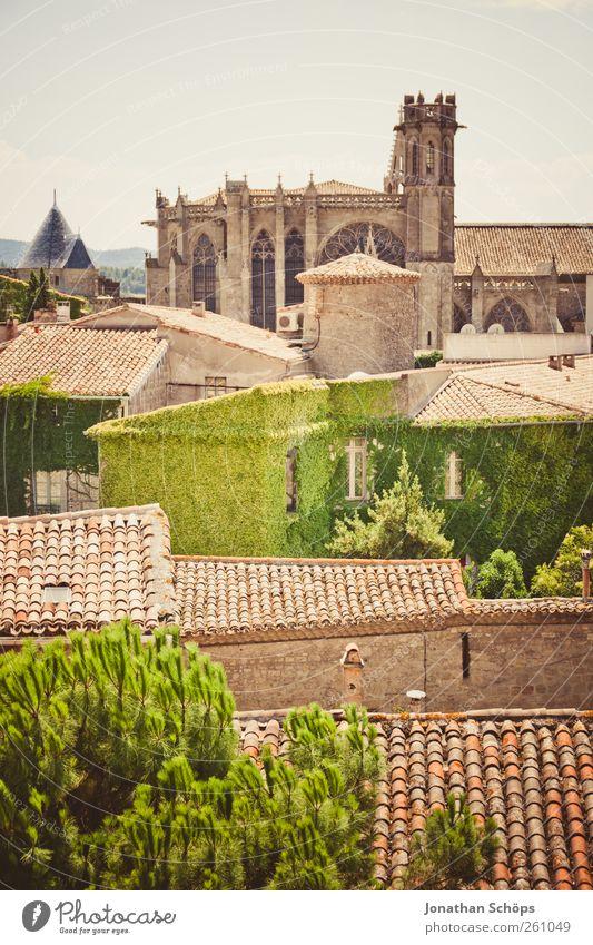 Carcassonne II [Wirtshäuser und Kathedralen] Himmel alt grün Stadt Ferien & Urlaub & Reisen Haus Ferne Architektur Wärme braun Dach historisch Frankreich