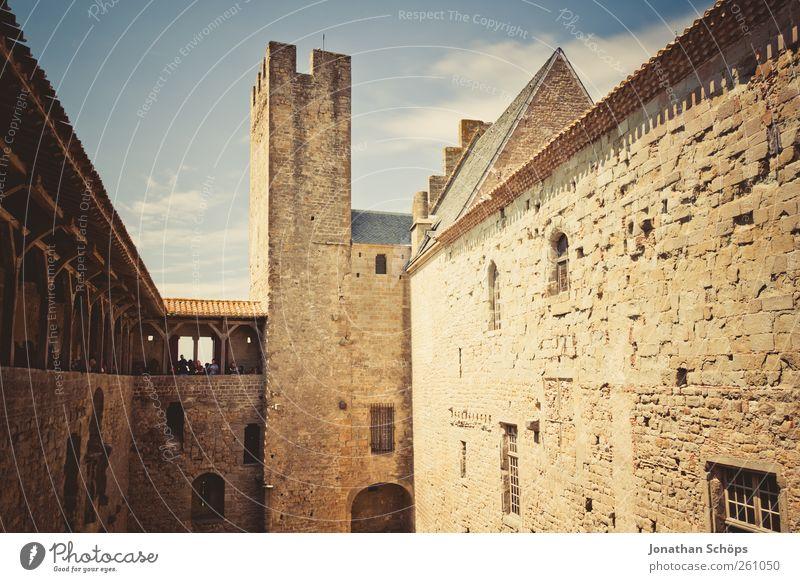 Carcassonne III [Die Burg] Ferien & Urlaub & Reisen Wand Architektur Freiheit Wärme Stein Mauer Gebäude Ausflug Abenteuer Tourismus Turm Burg oder Schloss Ruine
