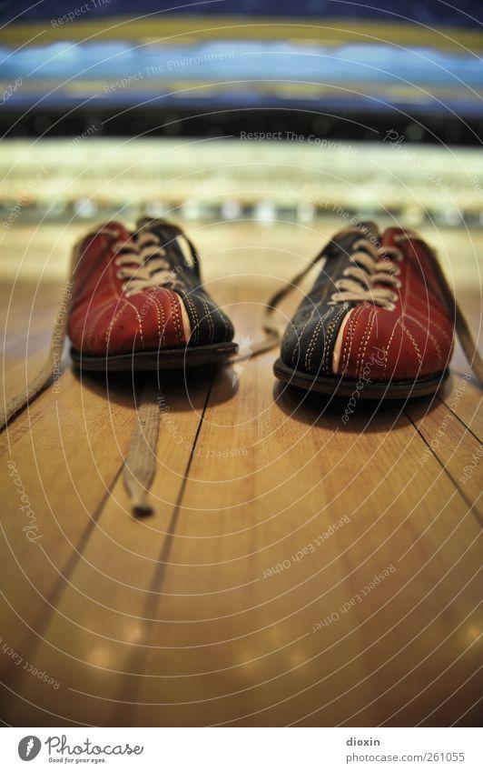 These Boots Are Made For Bowling blau rot Freude Sport Spielen Bewegung Holz Schuhe Freizeit & Hobby Turnschuh Leder Schuhbänder Bowling Sportstätten zweifarbig Bowlingbahn
