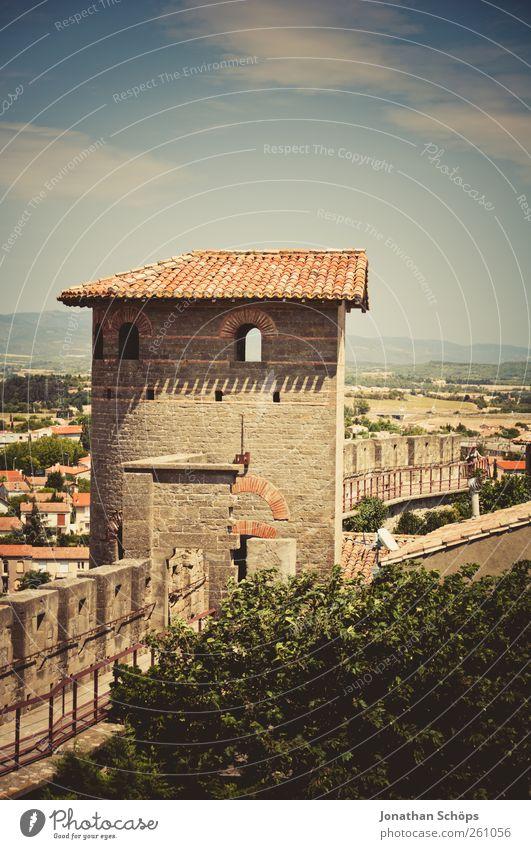 Carcassonne IV Himmel alt Stadt Ferien & Urlaub & Reisen Ferne Architektur Freiheit Wärme Stein Ausflug Abenteuer Tourismus Turm Schutz Schönes Wetter Aussicht